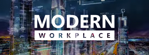 Modern Workplace logo, go to the Modern Workplace webcast series