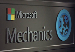 Microsoft Mechanics logo, open a list of Microsoft Mechanics videos about Office 365
