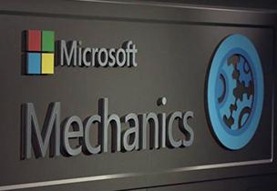 Microsoft Mechanics logo, go to a list of Microsoft Mechanics videos about Office 365