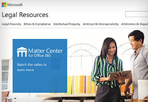 Matter Center for Office 365 information page, go to the Matter Center for Office 365