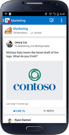 Android:  Yammer goes where you go