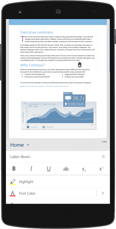 A smartphone featuring a document on the screen, get the free eBook about why businesses are moving to the cloud