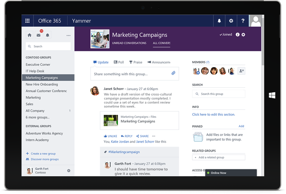 Yammer enterprise social network office 365 - Activate yammer office 365 ...