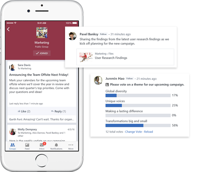 Microsoft yammer features team collaboration tools - Activate yammer office 365 ...