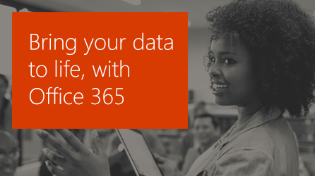 A woman presenting to several people in a meeting, learn how you can create brilliant business insights with Office 365 and Power BI.