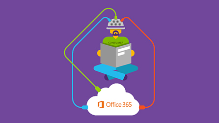 Part of infographic featuring Conde Nast and Office 365