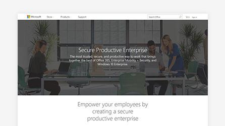 Secure Productive Enterprise screen, learn about Secure Productive Enterprise