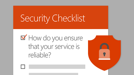 Screenshot of infographic titled Security Checklist, visit a page where you can click a link to view and download it