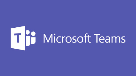 Microsoft Teams logo, read the blog article titled Test drive our hottest new collaboration tool—Microsoft Teams.