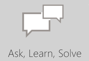 Ask Learn Solve community icon, open the Microsoft Office community site