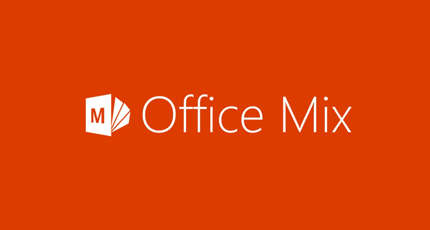 Screenshot of a PowerPoint slide showing the Office Mix logo.