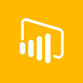 Microsoft Power BI logo, get information about the Power BI mobile app in page