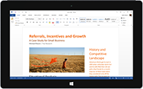 Windows tablet mobile apps for Office'