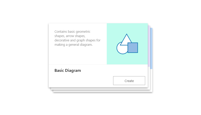 a Visio Online pre-crafted starter diagram