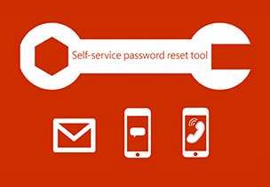Self-service password reset tool logo, go to the administrator password reset instructions for Office 365