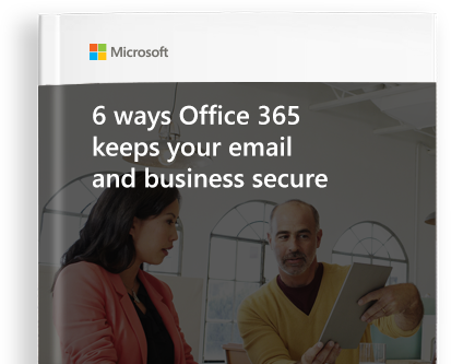 page from eBook titled 6 ways Office 365 Keeps Your Email and Business Secure