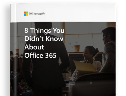 A page from the eBook titled 8 things you didn't know about Office 365