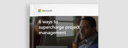 Get the free eBook title page from eBook 6 ways to supercharge project management