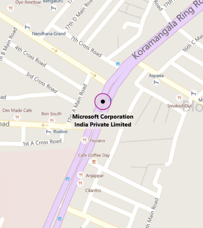 Map of MTC Bangalore