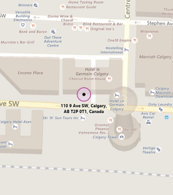 Map of MTC Calgary