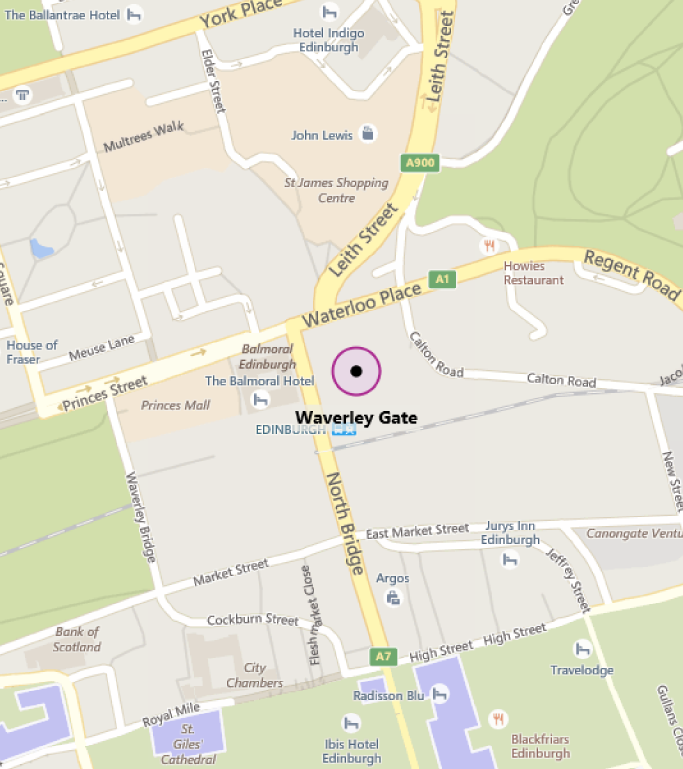 Map of MTC Edinburgh