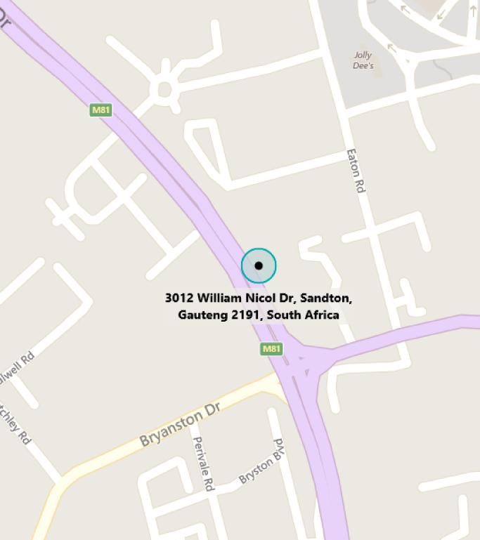 Map of MTC Johannesburg