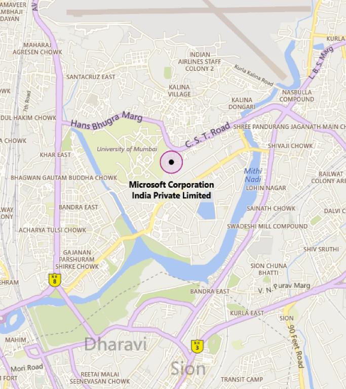 Map of MTC Mumbai
