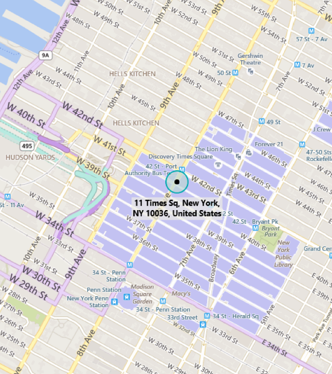 Map of MTC New York