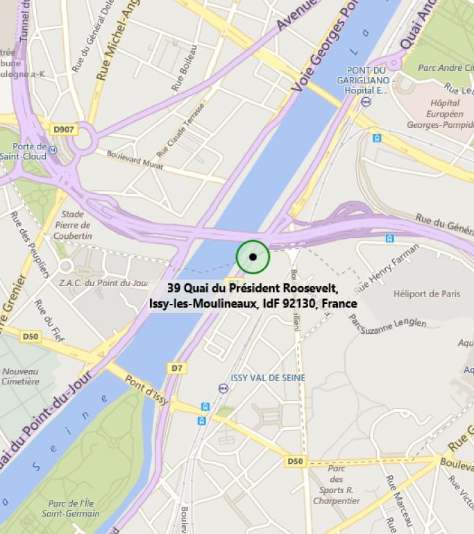 Map of MTC Paris