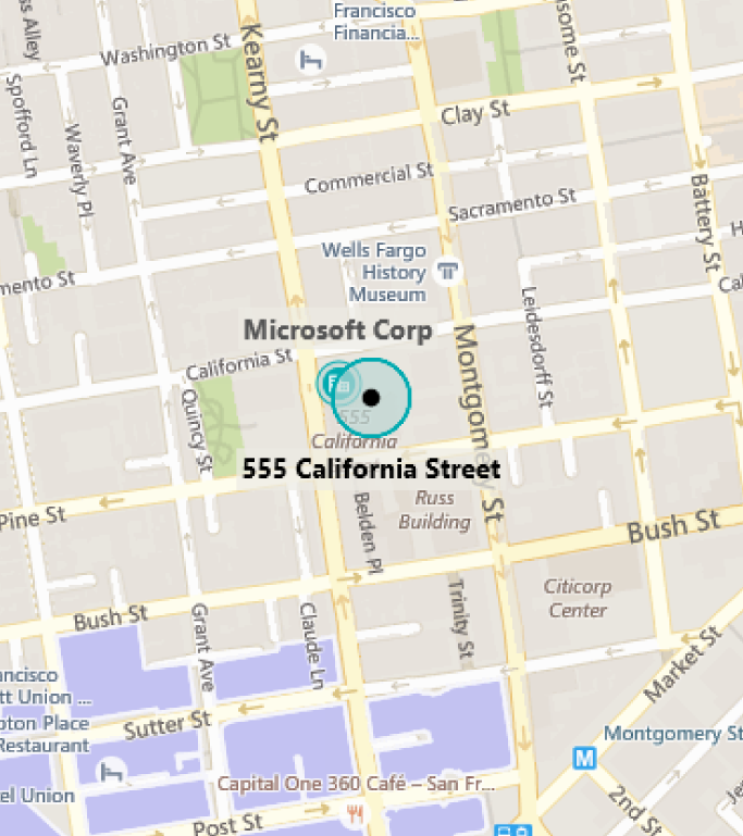 Map of MTC San Francisco