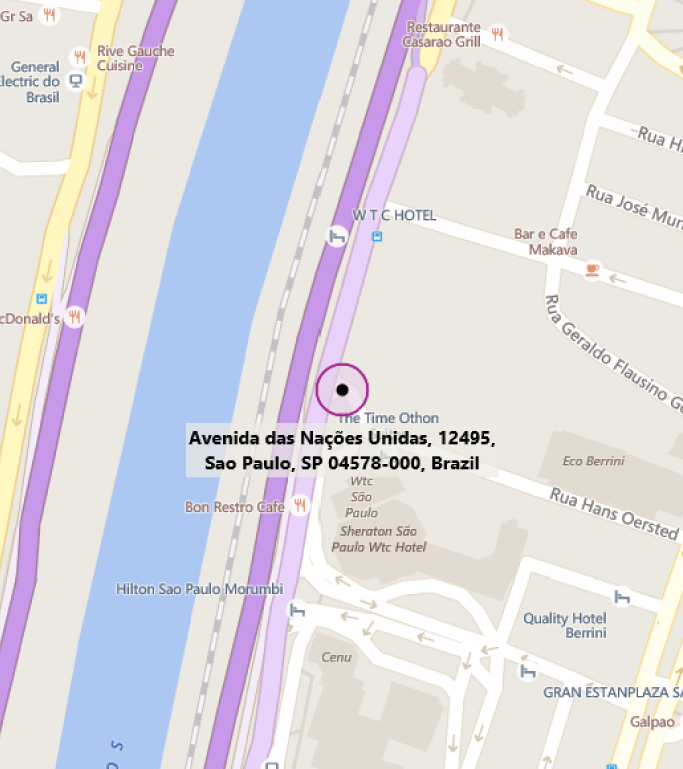 Map of MTC Sao Paulo