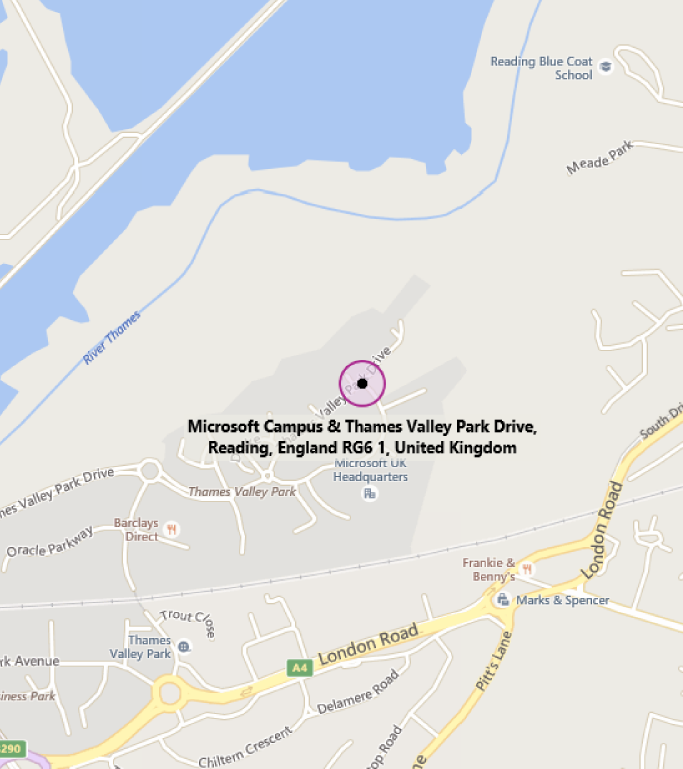 Map of MTC Thames Valley