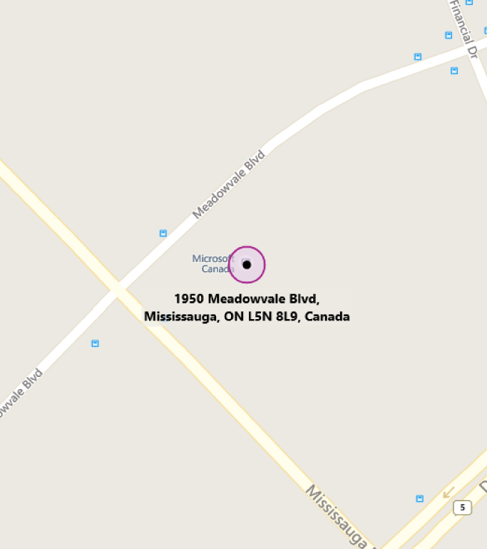 Map of MTC Toronto-Mississauga
