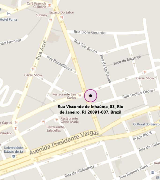 Map of MTC Rio de Janeiro