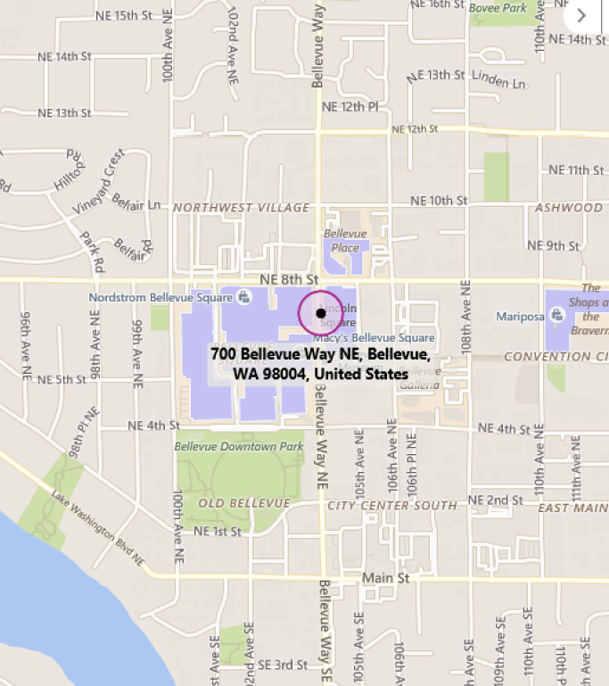 Map of MTC Seattle