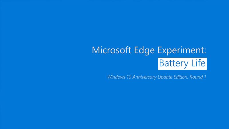 Microsoft Edge battery life video