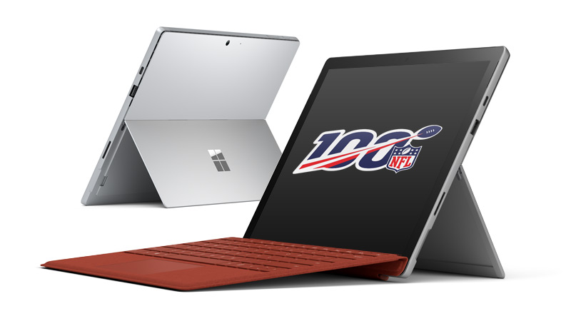 Black Surface Pro 7 and Platinum Surface Pro 7