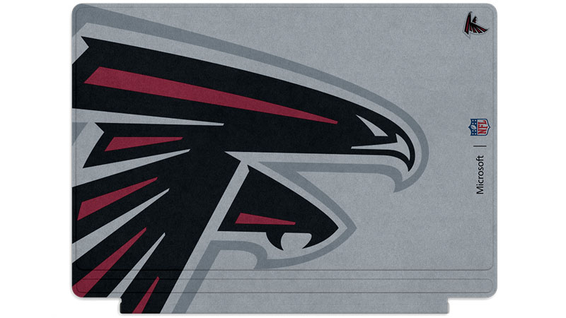 Atlanta Falcons logo printed on Surface Type Cover