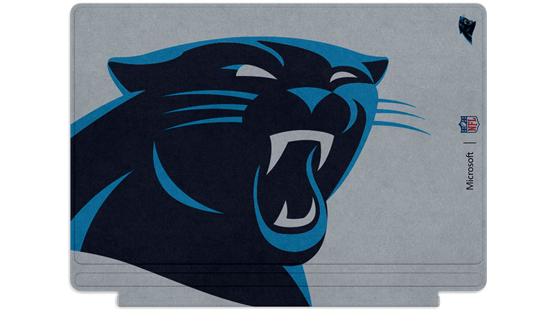 Carolina Panthers logo printed on Surface Type Cover