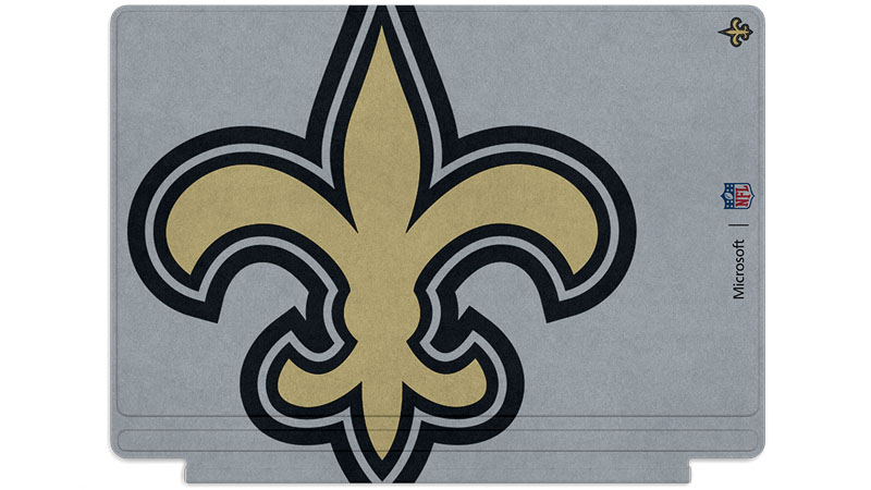 New Orleans Saints logo printed on Surface Type Cover