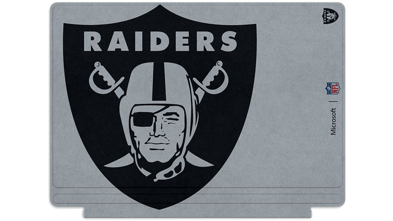 Oakland Raiders logo printed on Surface Type Cover