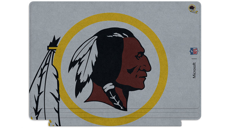 Washington Redskins logo printed on Surface Type Cover