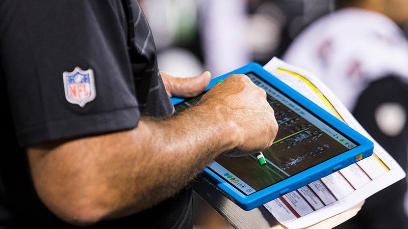 Microsoft Surface being used as the Official Sideline Technology Provider for the NFL