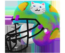 Blythe Dockham's custom NFL helmet design