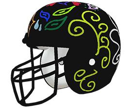 Metzli Munoz's custom NFL helmet design