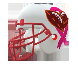 Anastacia Reese's custom NFL helmet design