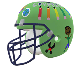 Eventz Joseph's custom NFL helmet design
