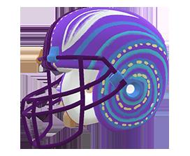 Luis Buenaventura's custom NFL helmet design