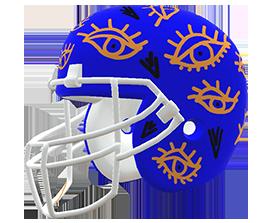 Sangita Joshi's custom NFL helmet design