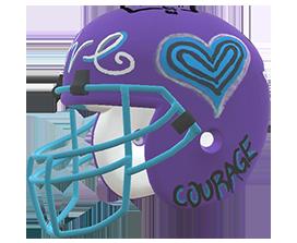 Sierra Stratton's custom NFL helmet design